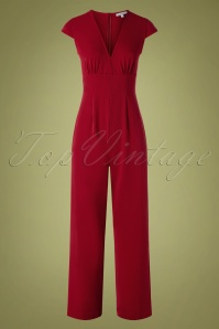 Very Cherry 29988 Venice Jumpsuit Deep Red 20190605 002 W