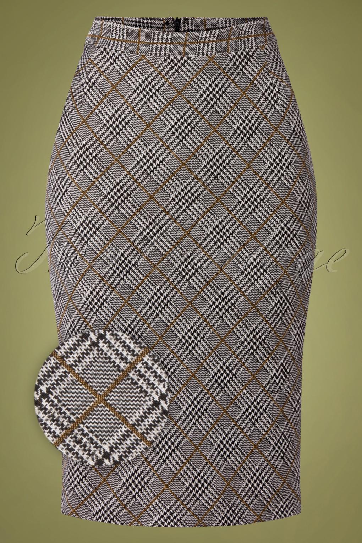 Vintage Suits Women | Work Wear & Office Wear 50s Upper West Girl Skirt in Grey £62.81 AT vintagedancer.com