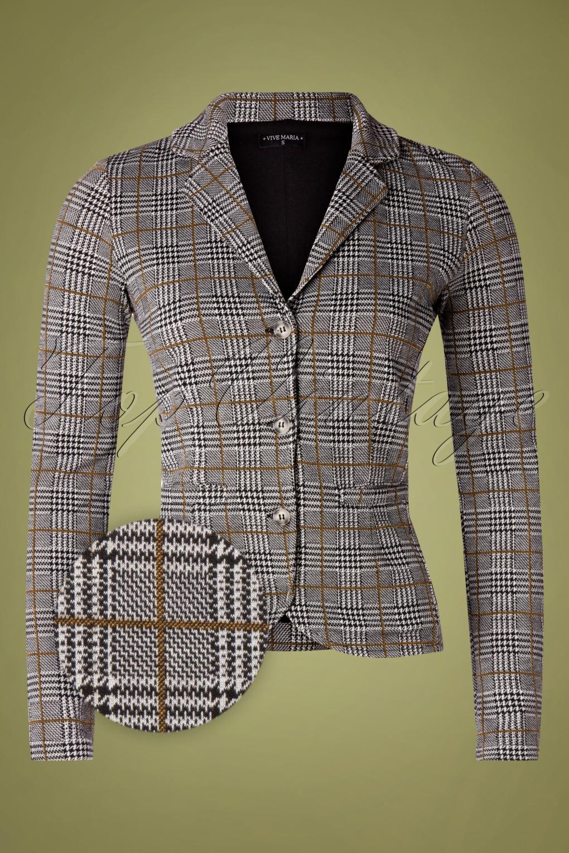 Vintage Suits Women | Work Wear & Office Wear 50s Upper West Blazer in Grey £80.77 AT vintagedancer.com