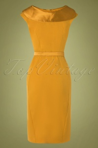 Miss Candyfloss 31007 Pencildress Mustard Short 07102019 000006W