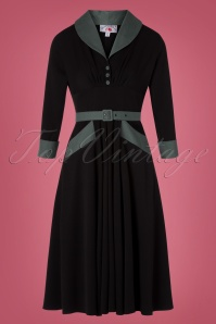 50s Rosaleen Swing Dress in Black