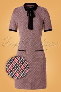 Vive Maria 60s British School Dress in Red and Black