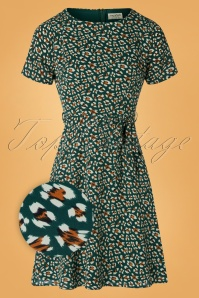 Sugarhill Brighton 60s Kerri Animal Dress in Green