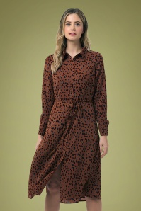 Sugarhill Brighton 30152 Britney Animal Spot Shirt Dress 20190807 020LW