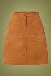 Sugarhill Brighton 60s Maggie Cord Skirt in Tan