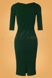 Vintage Chic 31135 Pencil Dress Green 20190812 004 W