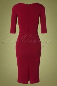 Vintage Chic 31134 Pencil Dress Wine20190809 011 W