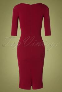 Vintage Chic 31134 Pencil Dress Wine20190809 011 W
