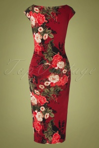 Vintage Chic 31792 Red Floral Pencil20190809 008W