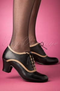 40s Farren Shoe Booties in Black