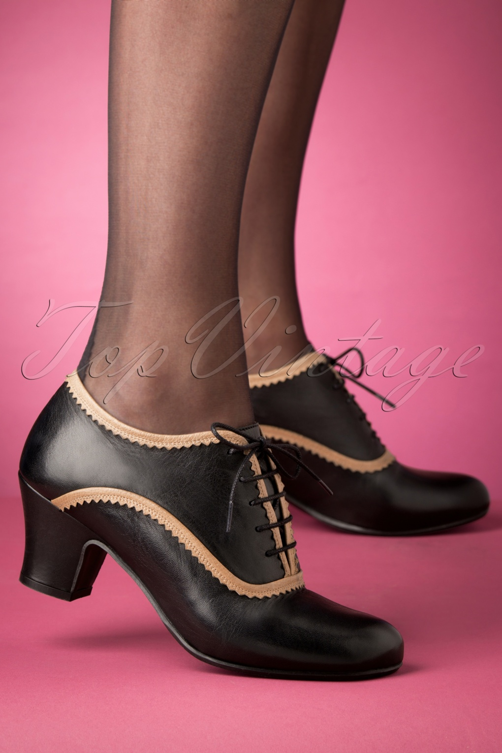 Women's Vintage Shoes & Boots to Buy 40s Farren Shoe Booties in Black £127.40 AT vintagedancer.com