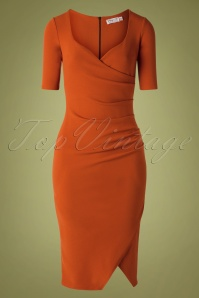 50s Selene Pencil Dress in Cinnamon