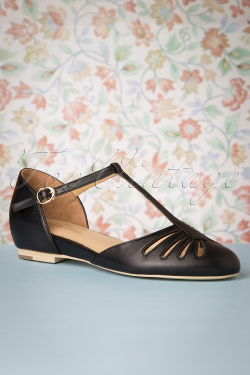 Charlie Stone 30777 Singapore Black Tstrap Flats Shoes 20190808 004 W