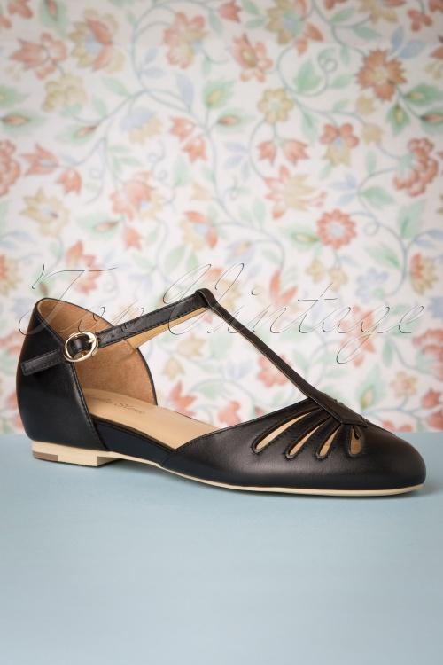 Charlie Stone 30777 Singapore Black Tstrap Flats Shoes 20190808 004 W