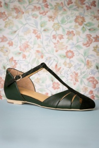 Charlie Stone 30775 Toscana Tstrap Dark Green Flats Shoes 20190808 005 W