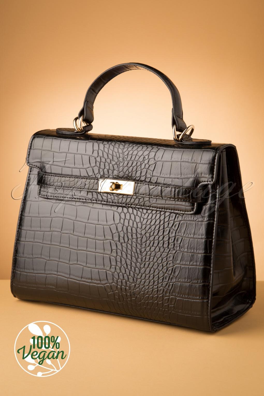Vintage Handbags, Purses, Bags *New* 50s Versailles Handbag in Black £80.02 AT vintagedancer.com