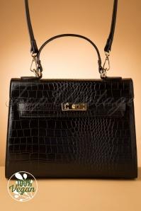 Charlie Stone 31413 Bag Black Croco Versailles 190812 011 W Vegan