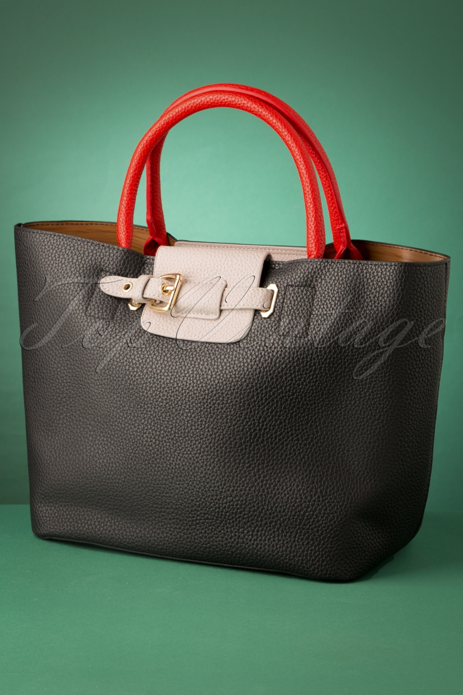 Vintage Handbags, Purses, Bags *New* 60s Eloise Secret Shopper Handbag in Black £39.10 AT vintagedancer.com