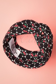 Blutsgeschwister 29775 Knot Of Know Cherry Hairband Headband Black White Red 20190802 007 W
