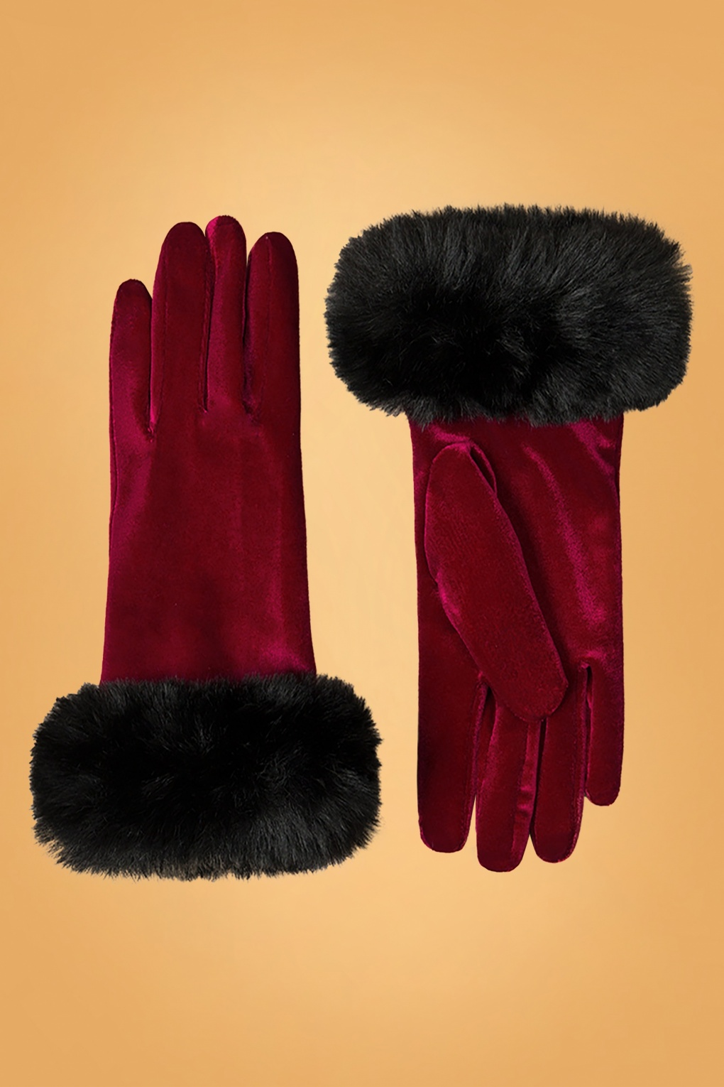 Vintage Style Gloves- Long, Wrist, Evening, Day, Leather, Lace 50s Valentina Velvet Gloves in Bordeaux £22.40 AT vintagedancer.com