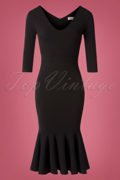 Vintage Chic 31171 Pencil dress Black20190814 001W