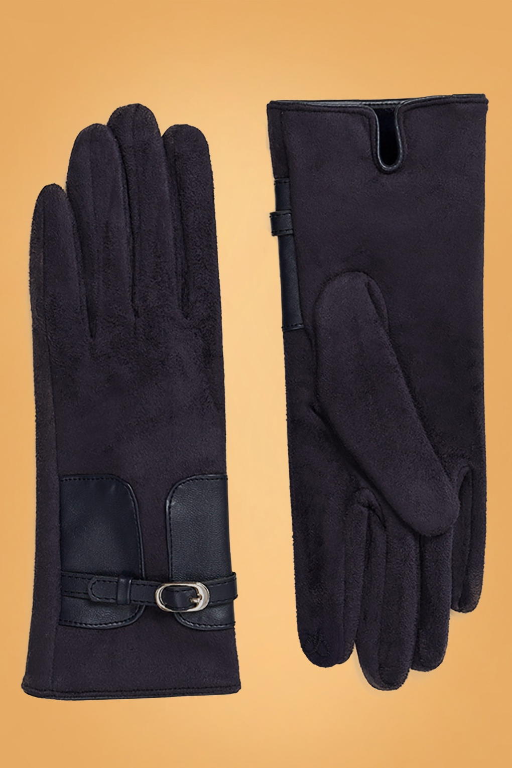 Vintage Style Gloves- Long, Wrist, Evening, Day, Leather, Lace 50s Kimberly Gloves in Navy £22.40 AT vintagedancer.com