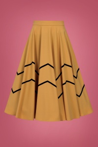 Collectif 29799 Milla Swing Skirt in Mustard 20190430 021L W