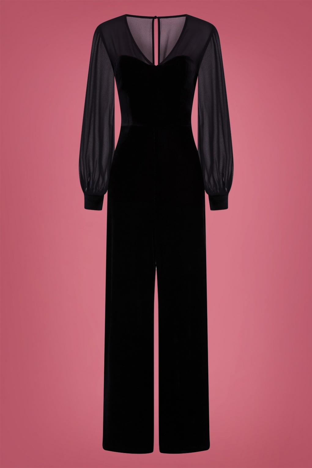 Vintage High Waisted Trousers, Sailor Pants, Jeans 50s Arionna Velvet Jumpsuit in Black £61.70 AT vintagedancer.com