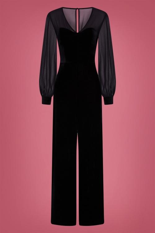 Collectif 29930 Arionna Velvet Jumpsuit in Black 20190430 021LW