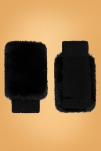 Amici 60s Grace Wool Gloves in Black