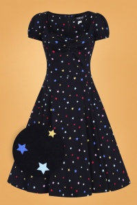 Collectif 29841 Mimi Rainbow Star Doll Dress in Black 20190604 021LZ