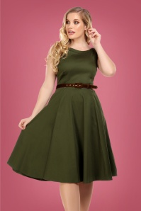 50s Dale Swing Dress in Green
