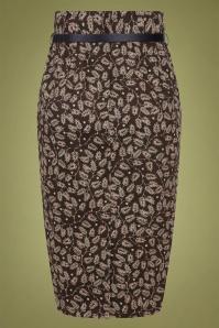 Collectif 29877 Caron Autumn Falls Pencil Skirt 20190604 022LW