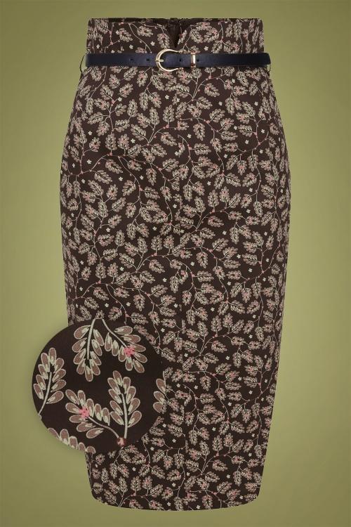 Collectif 29877 Caron Autumn Falls Pencil Skirt 20190604 021LZ