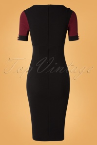 Vintage Chic 31187 Pencil dress Wine Black20190814 015W
