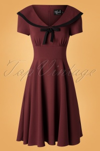 Bunny 30723 Thea Dress Burgundy20190814 003W