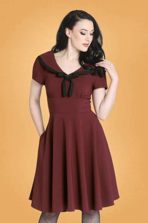 Bunny 30723 Thea Dress in Burgundy 20190704 020LW