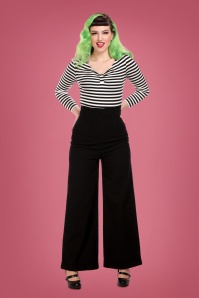 Collectif 29809 Kiki High Waisted Jeans in Black 20190430 020LW