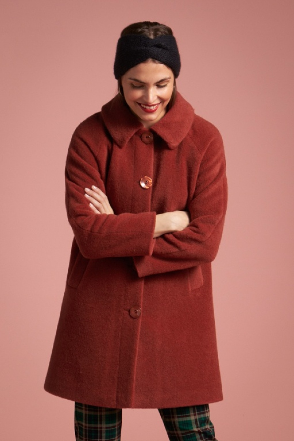 Vintage Coats & Jackets | Retro Coats and Jackets 70s Betty Fayette Coat in Henna Red £143.63 AT vintagedancer.com