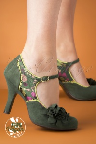Ruby Shoo Ashley Pumps Années 50 en Vert
