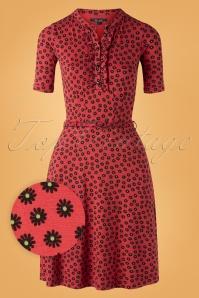60s Caro Orbit Dress in Icon Red