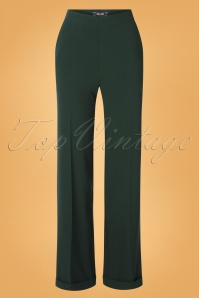 King Louie 29357 Ethel Pants Woven Crepe In Pine green20190621 004W