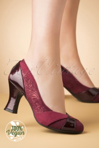 40s Lulu Pumps in Russet