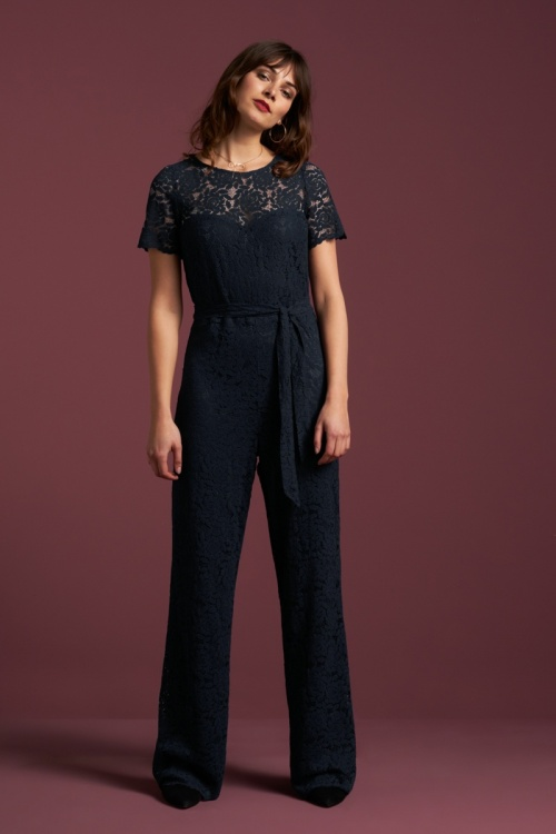 King Louie 29464 Betty Jumpsuit Damask in Red 20190722 1