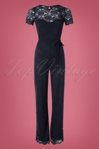 King Louie 29464 Betty Jumpsuit Damask in Blue 20190722 01W