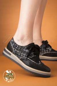 Ruby Shoo 50s Davina Tweed Brogues in Black