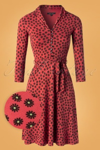 King Louie 60s Emmy Orbit Dress in Icon Red