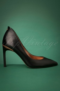 50s Savioel Leather Pumps in Black