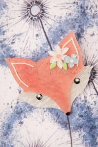 TopVintage exclusive ~ 60s Flora Fox Face Brooch