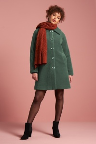 King Louie 70s Betty Fayette Coat in Jasper Green